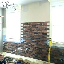 Image Lowes Interior Brick Wall Panels Tiles Faux Best Uk Fake Br Interior Faux Brick Wall Faux Direct How To Faux Brick Wall Panel By Interior Covering Dirtycookieco
