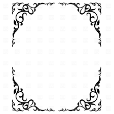 simple frame border. Simple Frame Borders Clip Art Medium Size Border