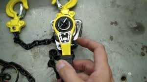 harbor freight hand winch. harbor freight lever chain hoist review hand winch e