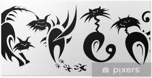 Plakát Kočky Tetování