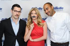 mustaches beat women to top medical jobs nbc news kate upton poses two mustachioed men for a team gillette event to support movember efforts