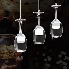 led wine glass ceiling light 1m chandelier pendant
