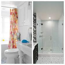 glass shower door vs curtain