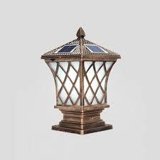 Pillar Solar Lights For Outdoors Modeen Continental Outdoor Frosted Glass Solar Energy Column