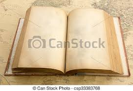 old book with empty page on vine map csp33383768