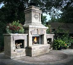 outdoor brick fireplace kits small plans with pizza oven fire