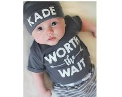 custom worth the wait baby clothes cute baby boy set baby ing home outfit personalized baby clothes baby shower gift add your name