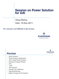 emerson's power solution to aai 19 dec 11 electric power system  emerson's power solution to aai 19 dec 11 electric power system mains electricity