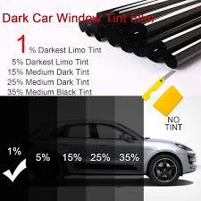 Car Window Tint Film Kit 35 Light Smoke Details About Window Tint Film Black Roll 1 Vlt Car Auto Home 76cm X 6m Tint Tools Super Dark