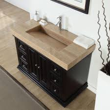 bathroom single vanity cabinets. 48-inch Modern Bathroom Single Vanity Cabinet Travertine Top Ramp Sink 0284T Cabinets
