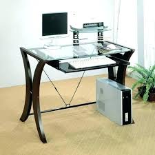 glass desk with storage small glass computer desk glass computer desk small glass corner computer desk