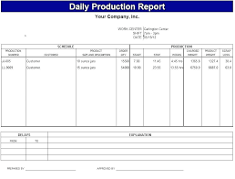 Best Daily Production Report Template Collections Free