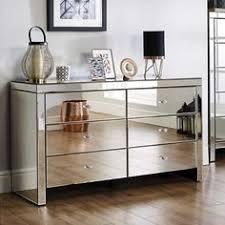 mirror effect furniture. Seville 6 Drawer Chest Mirror Effect Bedroom Furniture D