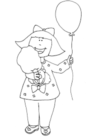 Ballons And Cotton Candy Coloring Page