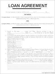 Company Loan To Employee Agreement Basic Loan Agreement Template