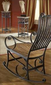 metal furniture designs. made from reclaimed teak wood and salvaged iron this western style rocking chair is great metal furniture designs