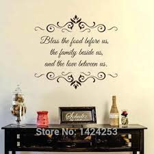kitchen large wall decals bless the food before us kitchen vinyl stickers family room art kitchen