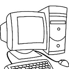 Computer Coloring Pages Computer Coloring Page Printable Colouring