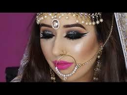 real bride nikaah asian bridal makeup bold eyes and bright pink lips arabic