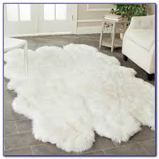 white faux fur rug ikea