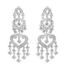 diamond chandelier earrings in 14k white gold 1 01ctw