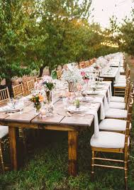 outdoor shabby chic wedding long table reception mary margaret smith