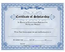 Scholarship Certificate Template Free Printable Certificate Of Scholarship Awards Blank Templates