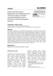 Saekan muchith, radikalisme dalam dunia pendidikan, dalam jurnal addin ilmu sosial dan keagamaan, vol. Https Journal Unnes Ac Id Sju Index Php Jphi Article Download 27259 11931