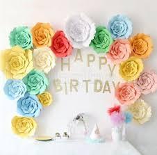 How To Make Paper Flower Backdrop 2019 20cm 30cm 40cm Diy Paper Flowers Backdrop Wall Decor Wedding