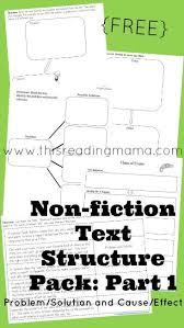 best what is text structure ideas what is art  non fiction text structure pack for problem solution and cause effect