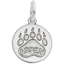 rembrandt charms aspen bear paw print charm stock 1602