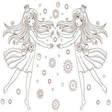 Twee Prinsessen Kleurplaat