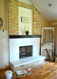 Painted Brick Fireplace Wall Ideas White Diy Black Mantle Ators. White Brick  Fireplace Dark Walls Painting Fireplaces Your. Painting Red Brick Fireplace  ...