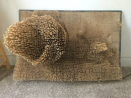 picture of transform an image into a dowel rod sculpture
