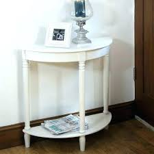half circle side table round foyer semi moon entry white tabl