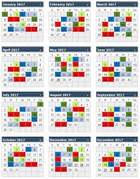 2017 Federal Leave Chart 2017 Uhg Payroll Calendar