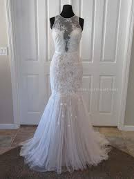 Theia Ivory Lace Elena 890530 Feminine Wedding Dress Size 4 S 56 Off Retail