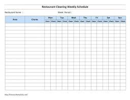Restaurant Bathroom Cleaning Chart Www Bedowntowndaytona Com