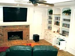 mounting tv on brick fireplace how to hang a on a brick wall brick fireplaces 6