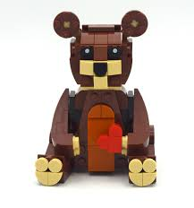 Review: 40462-1 - Valentine's Brown Bear | Rebrickable - Build with LEGO