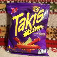 6 or 12 4 oz takis fuego xtreme hot rolled tortilla chips free ship