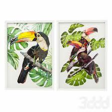 3d модели: Багеты - <b>Картины</b> в рамке Art Paradise <b>Bird</b> от <b>Kare</b> ...