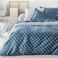 clarisse polka dot cotton duvet cover la redoute interieurs