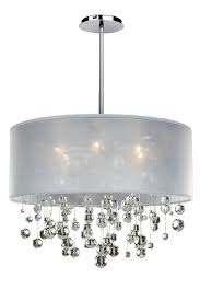 ... Large Size of Chandeliers Design:amazing Chrome Chandelier Fides Shaded  Grey Effect Lamp Pendant Ceiling ...