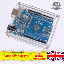 Arduino Uno R3 <b>Acrylic</b> Case Enclosure <b>Shell Transparent Clear</b> ...