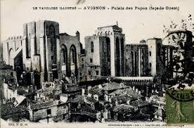 une vue de la faaade ouest. Avignon - Avignon, Palais Des Papes, Façade Ouest. Une Vue De La Faaade Ouest