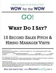 WOW for the Wow - Job Search Skills - Resume Butterfly - Go - 15 Second