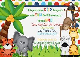 Jungle Theme Birthday Invitations Jungle Theme Birthday Invitation Jungle Theme Birthday