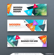 Banner Design Vector Abstract Geometric Design Banner Web Template