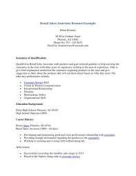Retail Sales Associate Resume Objective How To Write For Position